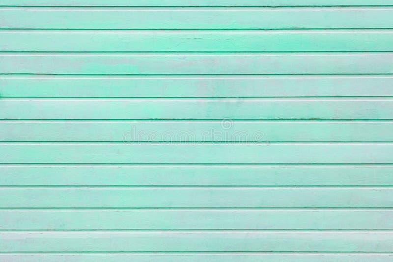 Horizontaal houten planken geschilderd turkoois als achtergrond stock foto's