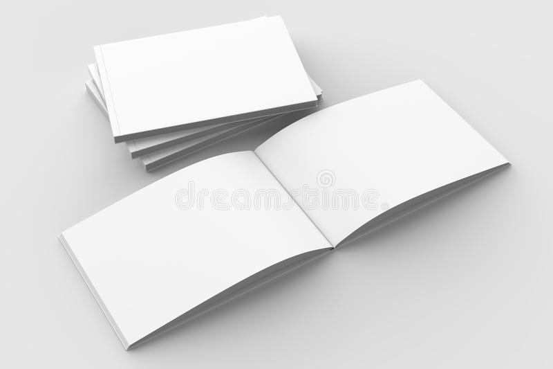 Horizontaal - landschaps hardcover brochure, boek of catalogusspot stock illustratie