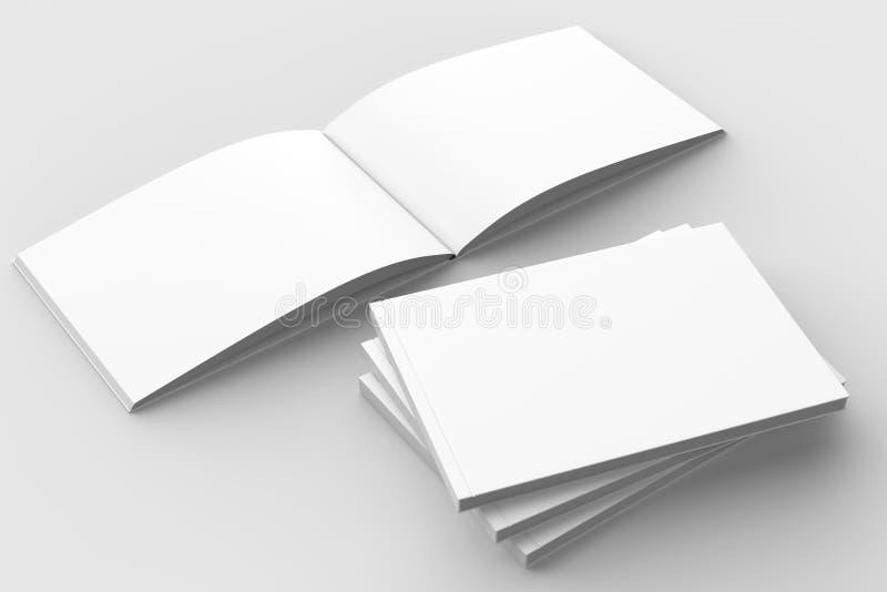 Horizontaal - landschaps hardcover brochure, boek of catalogusspot vector illustratie