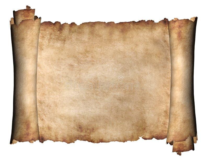 Horizontaal Manuscript stock illustratie