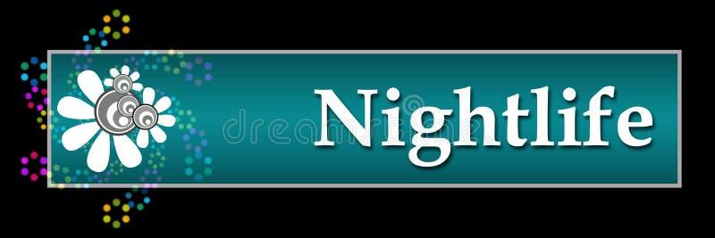 Horizontaal nachtleven Zwart Kleurrijk Neon vector illustratie
