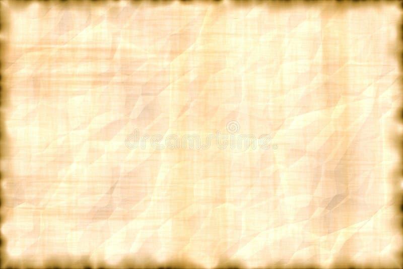 Horizontaal perkament. vector illustratie
