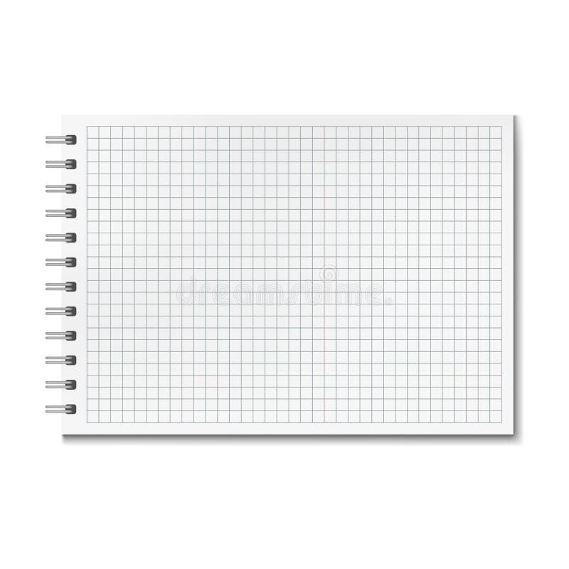 Horizontaal realistisch grafiek beslist notitieboekje stock illustratie