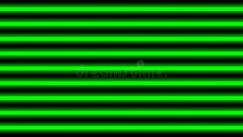 Horizontal élégant de vert de faisceau lumineux pour le fond, de poutre géométrique d'éclat de lumière de disco lignes verticales illustration libre de droits