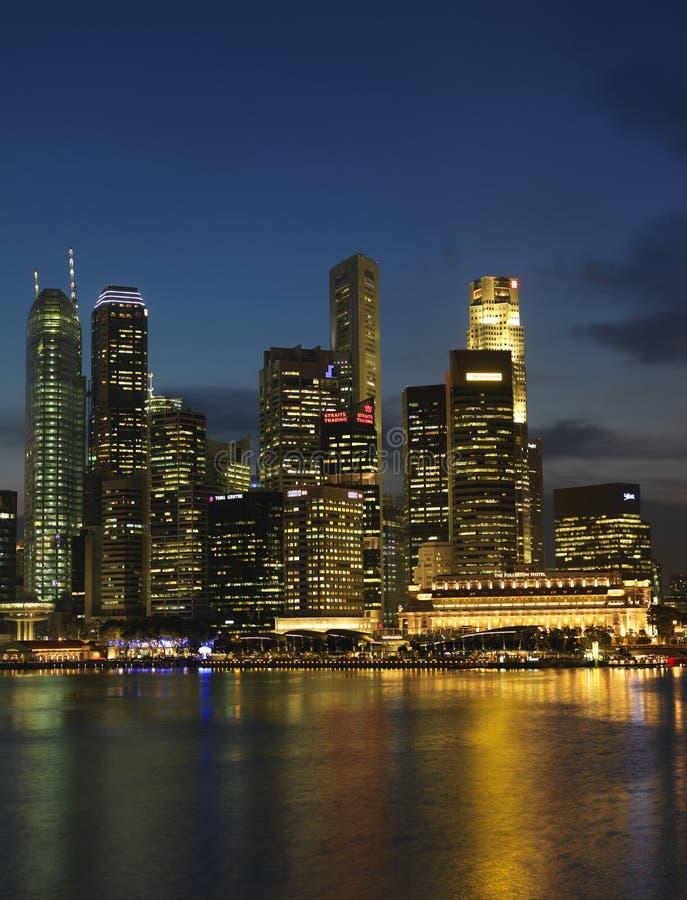 Horizontal 1 de Singapour Nite photos stock