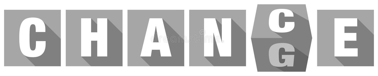 Abstract Gray Dices Turning From Chance To Change vector illustration