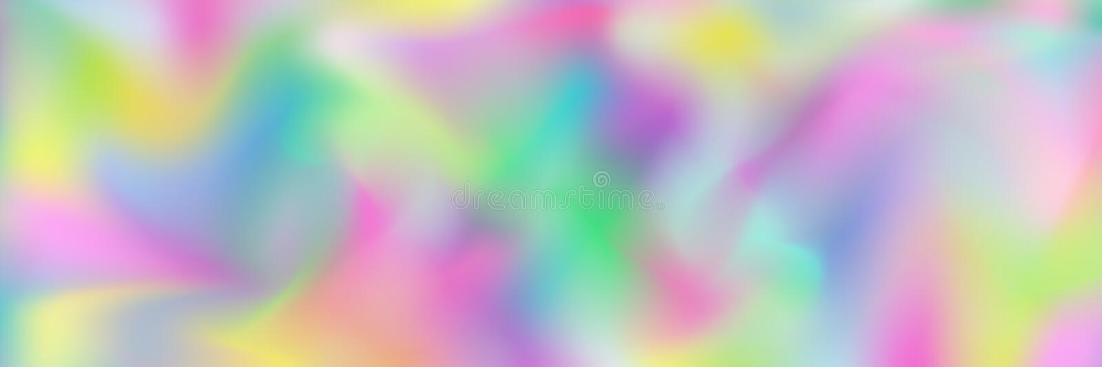 horizontal abstract pastel holographic texture design for pattern and background vector illustration