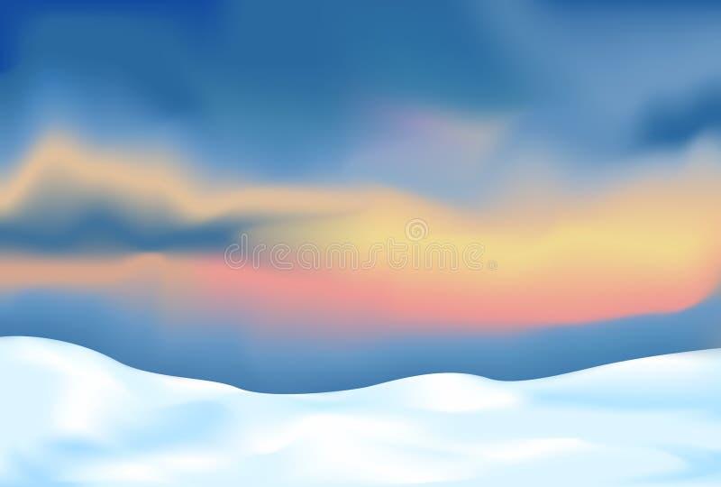 Horizontal abstrait avec la neige illustration stock