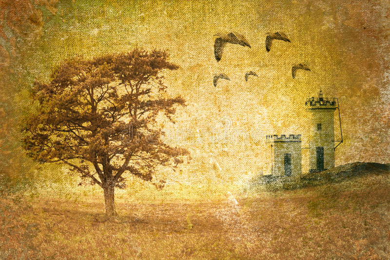 Horizontal abstrait de cru illustration stock