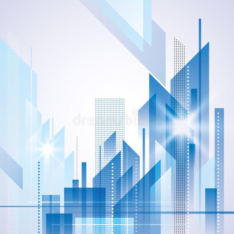 Horizontal abstrait de ville illustration de vecteur