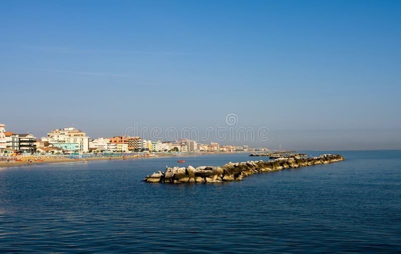 Horizontal adriatique de côte images libres de droits