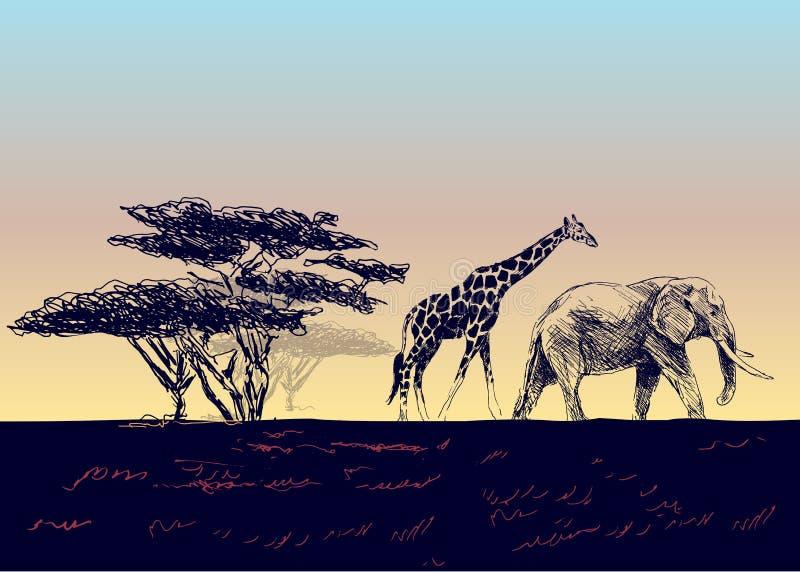 Horizontal africain illustration stock