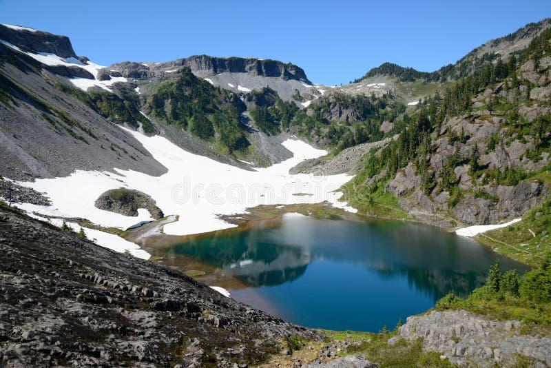 Horizontal alpin de lac et de montagne photo libre de droits
