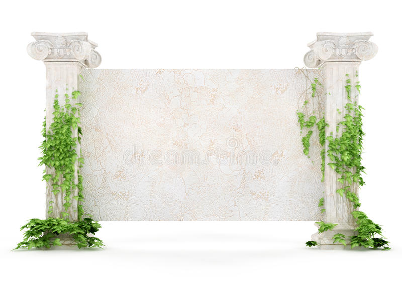 Download Horizontal Antiquity Billboard Covered With Ivy Royalty Free Stock Photo - Image: 13709945