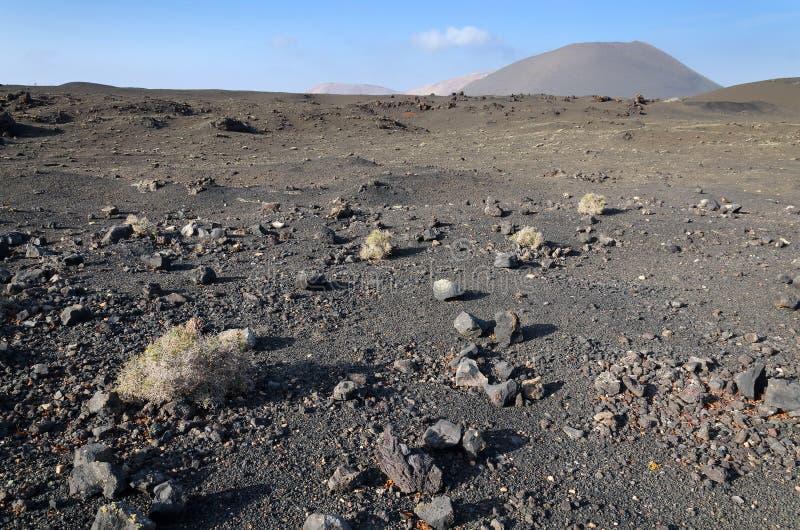 Horizontal aride de volcan photos libres de droits