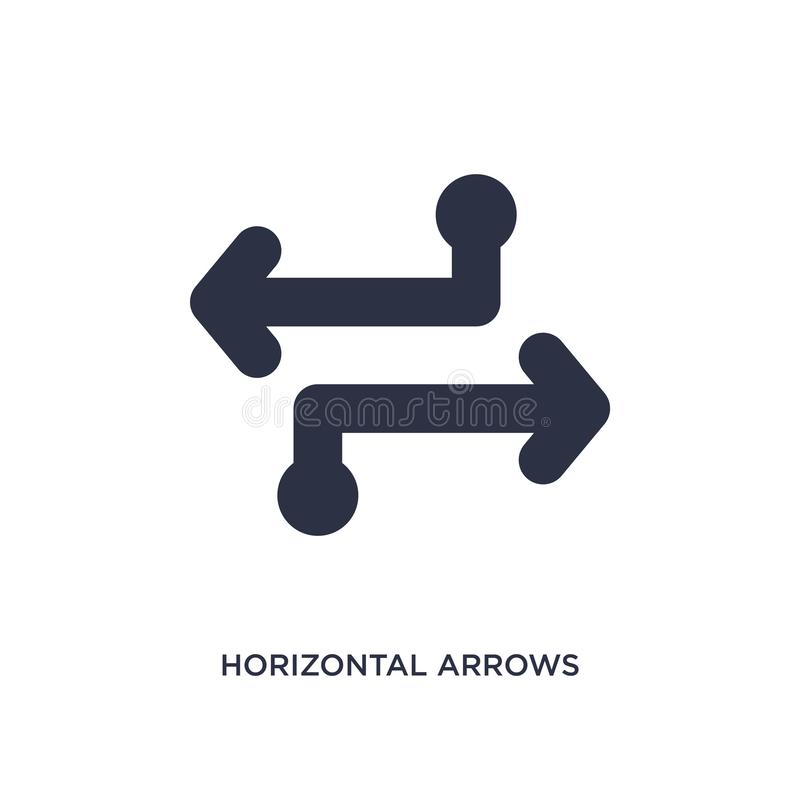 Horizontal arrows icon on white background. Simple element illustration from arrows 2 concept. Horizontal arrows isolated icon. Simple element illustration from vector illustration