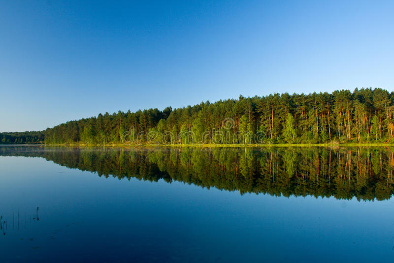 Horizontal au lac photographie stock