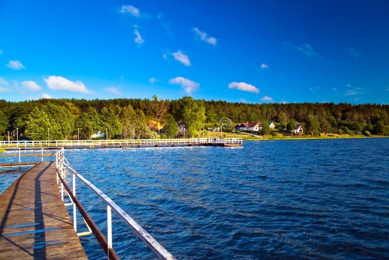 Horizontal au lac photo stock