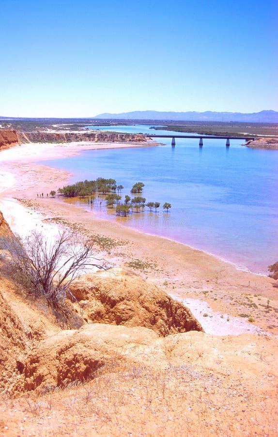 Horizontal australien - golfe de spencer photo stock