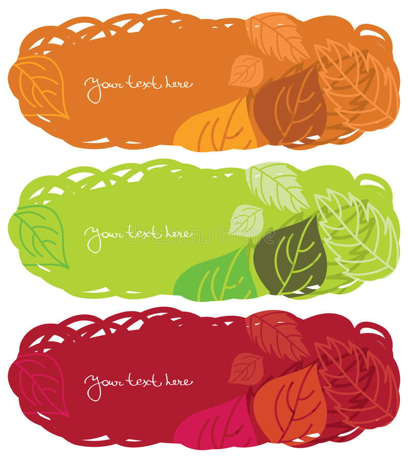 Download Horizontal autumn banners stock illustration. Illustration of draw - 15453247
