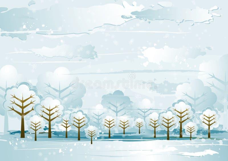 Horizontal avec des arbres, vecteur illustration libre de droits