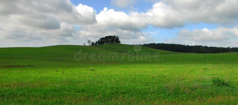 Horizontal avec la zone verte images stock