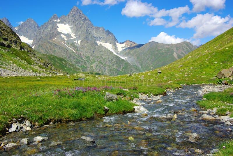Horizontal avec le fleuve images stock