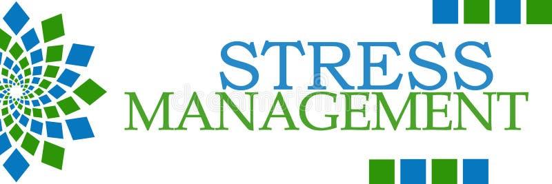 Horizontal azul verde da gestão de tensão ilustração stock
