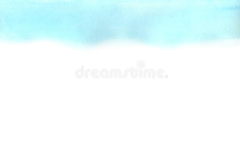 Horizontal background of watercolor absrtract blue, cyan gradient. Abstract blue, cyan watercolor gradient on white background. The color splashing in the paper stock photos