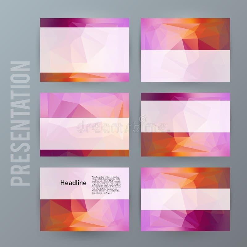 Horizontal banner background Design element powerpoint precentation03 stock illustration