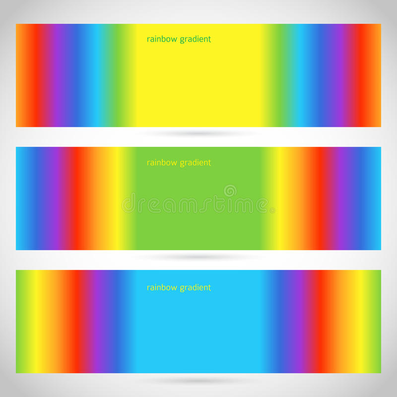 Horizontal-banner-rainbow-gradient. Design elements business presentation template. Vector illustration web banners horizontal / charts and graphs and tables on royalty free illustration