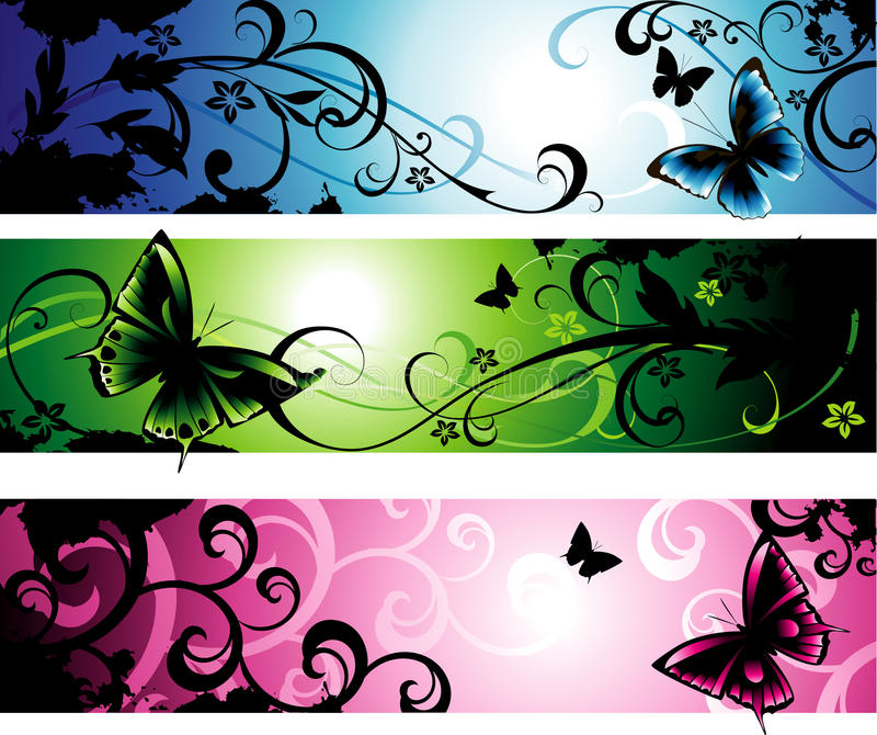 Horizontal Banners Stock Images