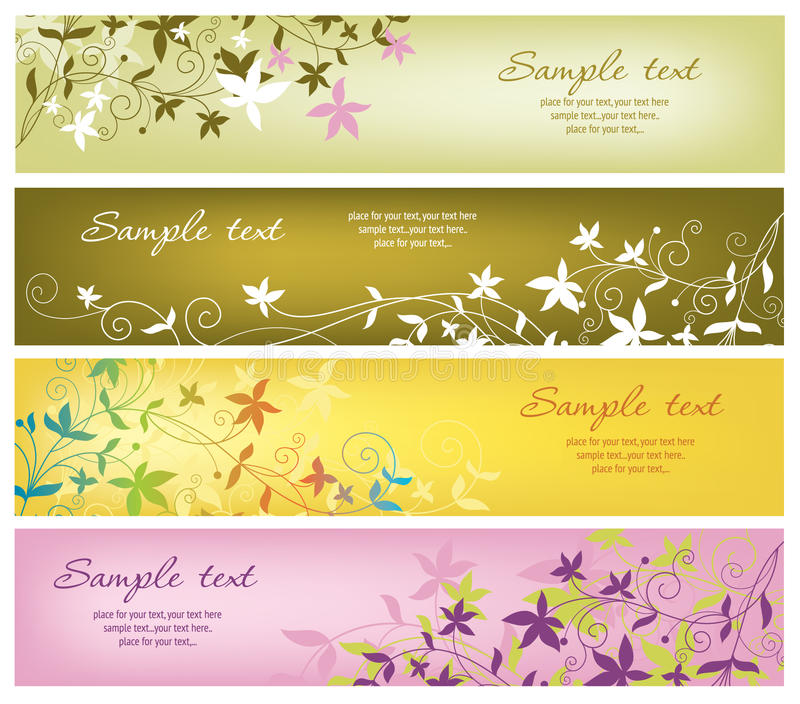 Download Horizontal banners stock vector. Illustration of sample - 15780731