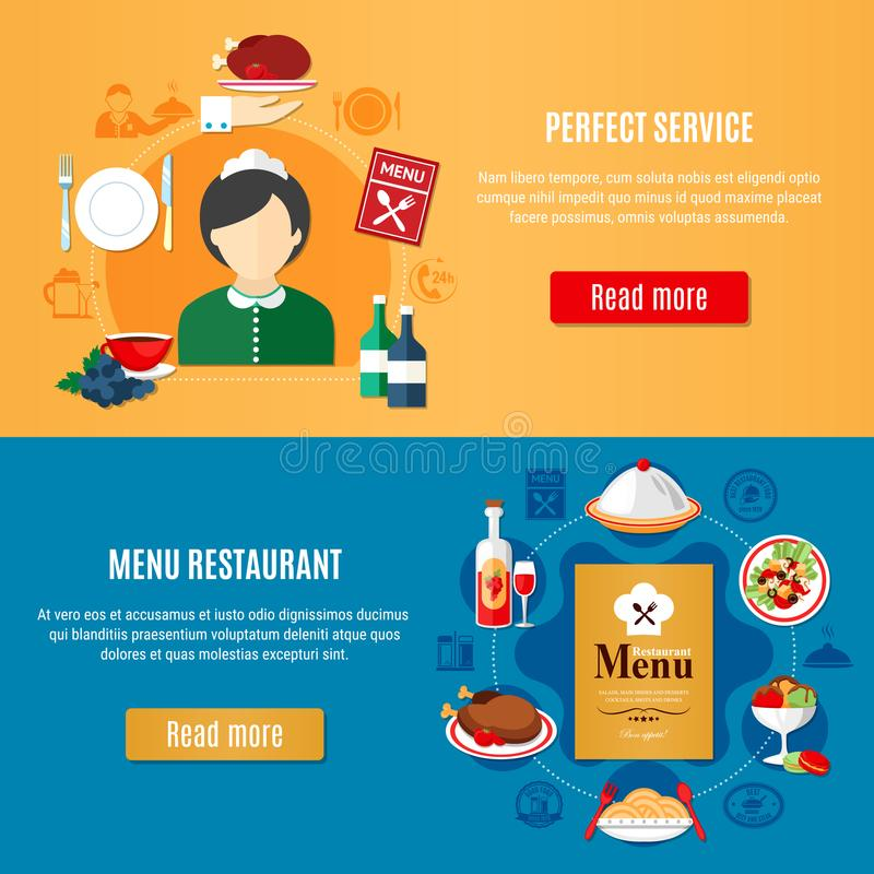 Restaurant Banners Set royalty free illustration