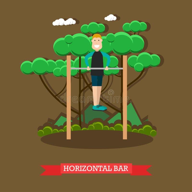 Horizontal bar vector illustration in flat style royalty free illustration