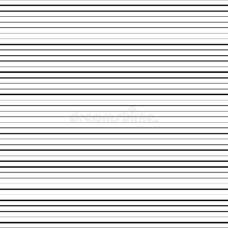Horizontal black lines vector illustration