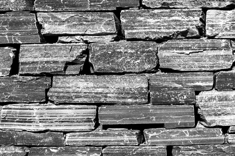 Download Horizontal Black And White Brick Texture Background Stock Photo