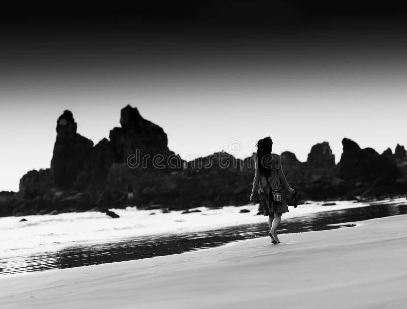 Horizontal black and white indian dreadlock girl bokeh backgroun stock photos
