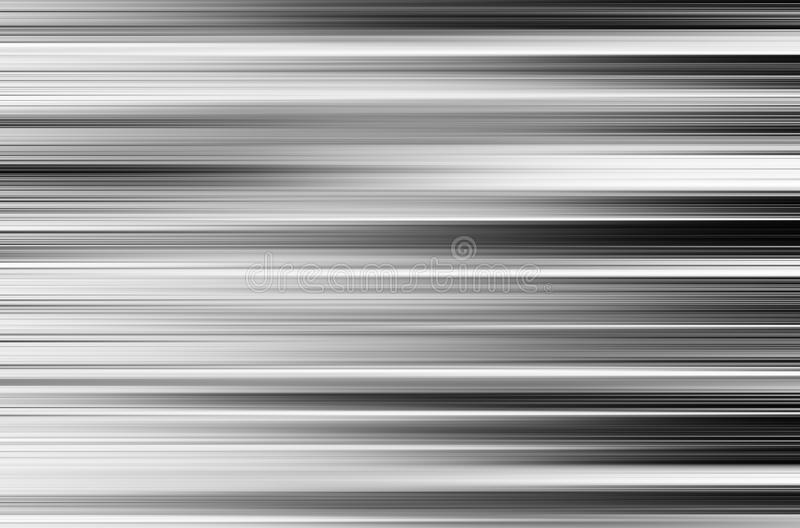 Horizontal black and white motion blur panels background stock photography