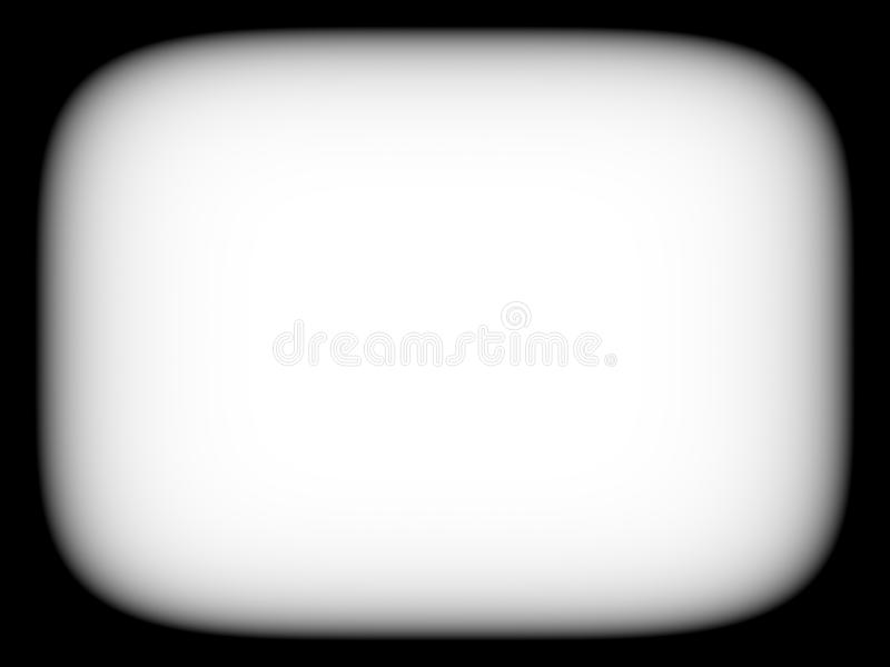 Horizontal blank empty black and white retro tv screen abstracti. On background backdrop royalty free stock photo