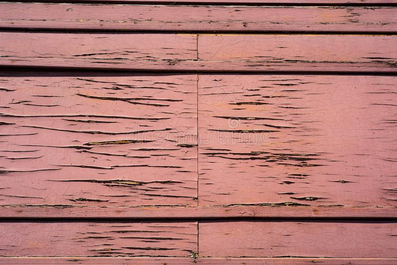 Horizontal boards with scratches. Red horizontal boards with scratches, texture, wooden, plank, surface, panel, background, floor, hardwood, wall, pattern stock images