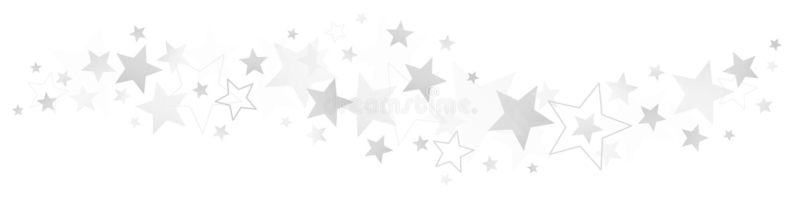 Border Different Silver And Gray Stars stock illustration