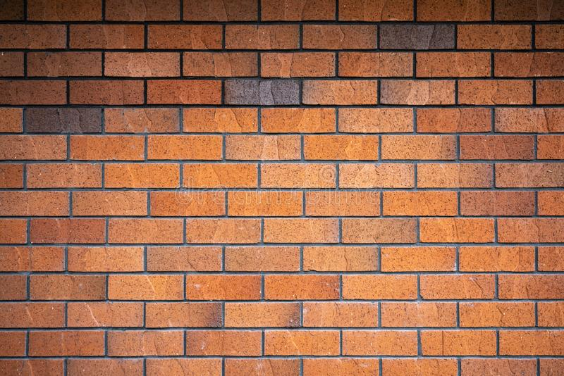Horizontal brown brick wall. For background and copy space, abstract, ancient, antique, architecture, art, backdrop, building, color, concrete, construction stock photography