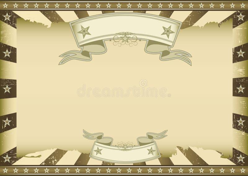 Horizontal brown vintage sunbeams vector illustration