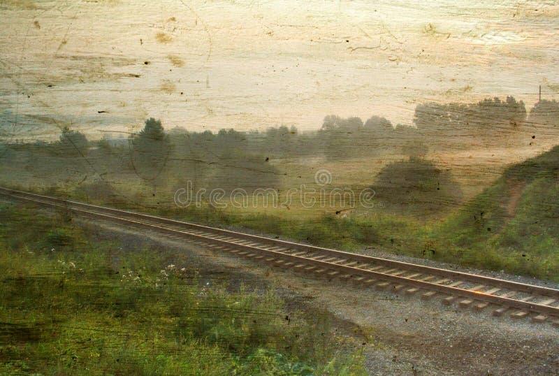 Horizontal brumeux de cru images stock