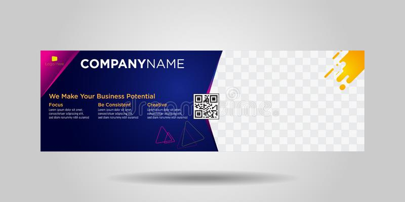 Horizontal business banners simple modern design-02 royalty free illustration