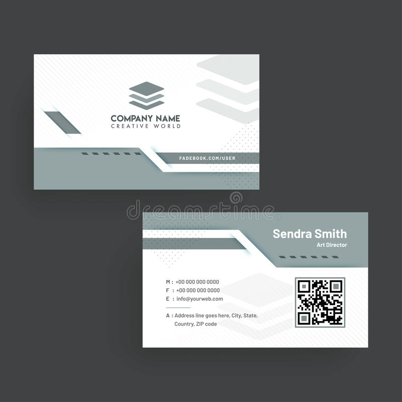 Business Card With Front And Back Presentation. Stock Illustration ...