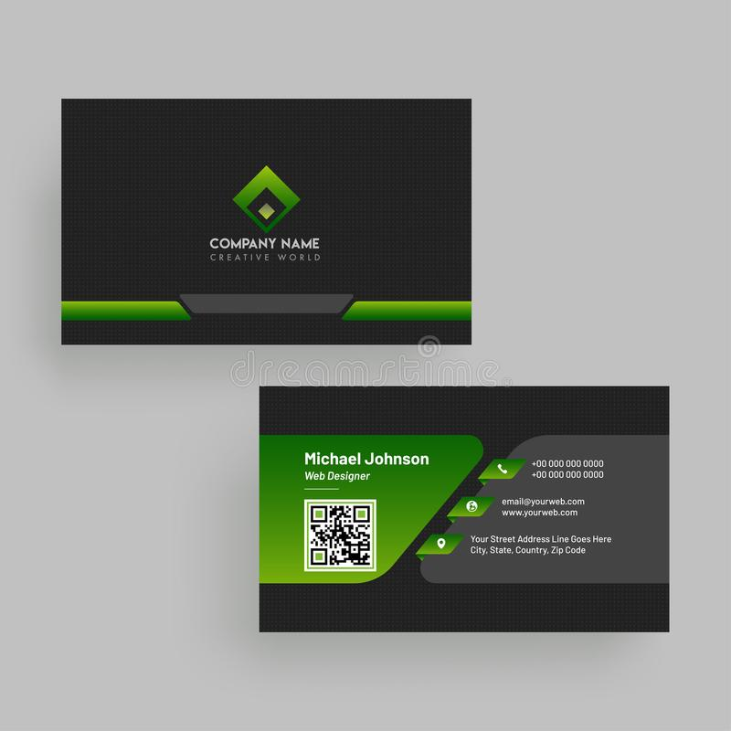 Horizontal business card with front and back presentation stock download horizontal business card with front and back presentation stock illustration illustration of design colourmoves