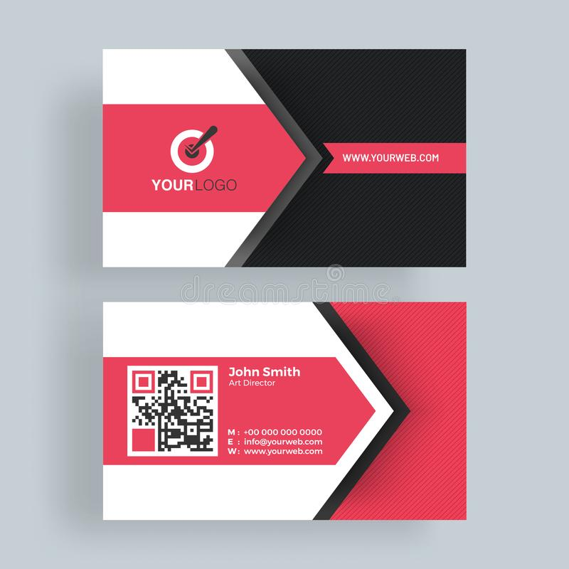 Horizontal business card with front and back presentation stock download horizontal business card with front and back presentation stock illustration illustration of back colourmoves