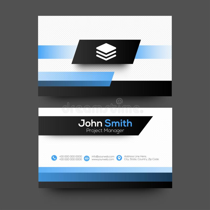 Horizontal business card with front and back presentation stock download horizontal business card with front and back presentation stock illustration illustration of artistic colourmoves